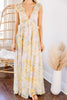 Living In A Dream Yellow Floral Maxi Dress