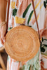 natural straw round purse