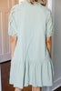 Full Of Beauty Sage Green Babydoll Dress