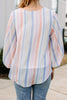 Good To See You Rose Pink Striped Top