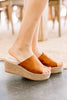 Going Well Tan Brown Espadrille Wedges