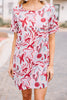 It's Your Day Red Bold Floral Dress