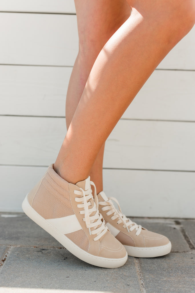 Confidence Is Key Almond Brown High Top Sneakers
