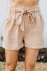All For You Camel Brown Paperbag Shorts