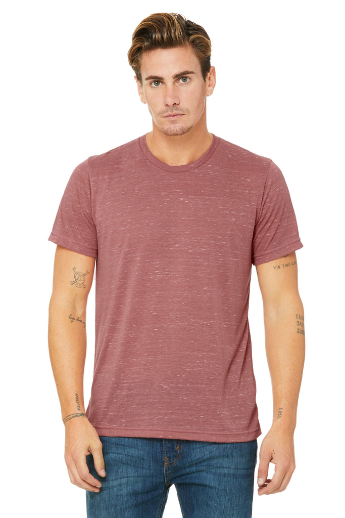 Bella Canvas Unisex Poly-Cotton Tee, Mauve Marble