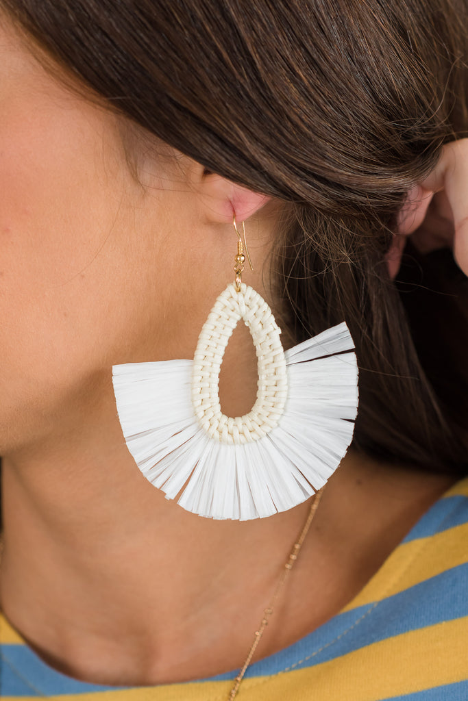 Can't Miss This Earrings, White