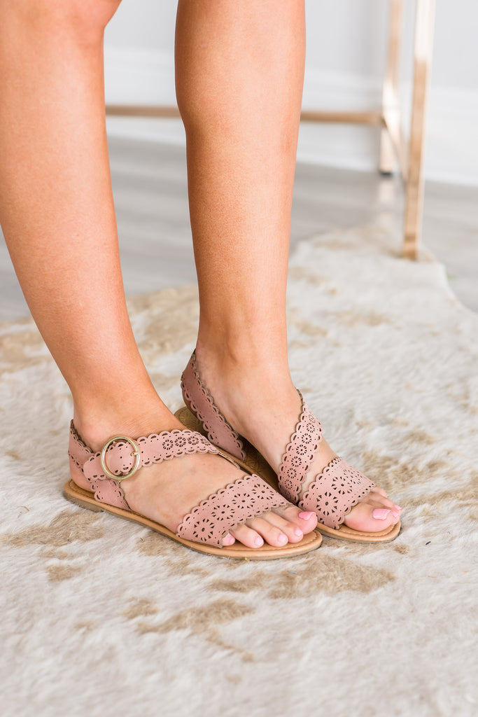 Sunny Summer Days Dusty Blush Pink Sandals