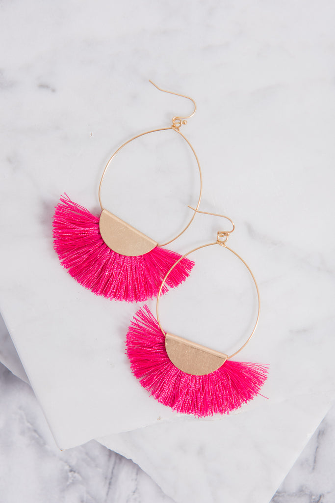 Take It Easy Earrings, Pink