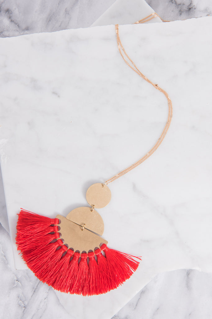The Way You Move Necklace, Red