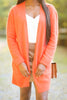 fall, cardigan, fall cardigan, long sleeves, classic fit, adorable, pockets, long sleeve with pockets, cardigan with pockets, cuffed long sleeves, generous stretch, orange, orange cardigan, orange long sleeve cardigan