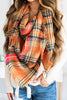 Autumn Air Orange Plaid Blanket Scarf