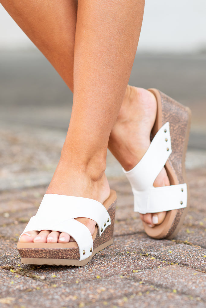 Paint Me A Picture Wedges, White