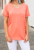 On the Go Coral Orange Pocket Tee
