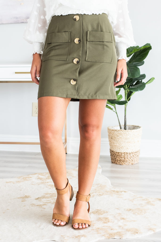 Look At You Skirt, Olive