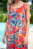 Palm Springs Paradise Maxi Dress, Sunset Red