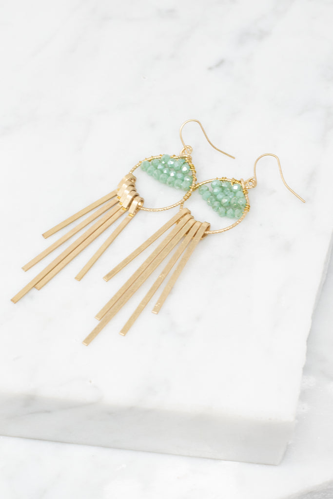 Sure Of Yourself Earrings, Mint