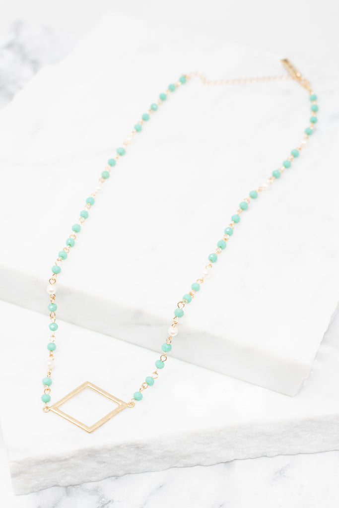 More Than Love Necklace, Diamond-Mint