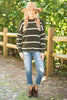 fall, sweater, fall sweater, winter, winter sweater, fabulous, soft, warm, stripes, round neckline, long sleeves, chenille fabric, generous stretch, olive, olive sweater,