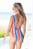 Pool Daze One Piece Swimsuit, Blue-Multi