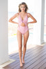 Cruise On By One Piece Swimsuit, Pink