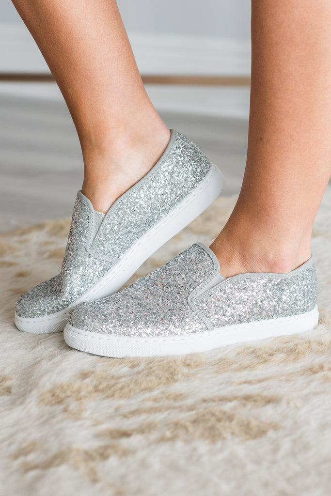 Magical Beginnings Sneakers, Silver