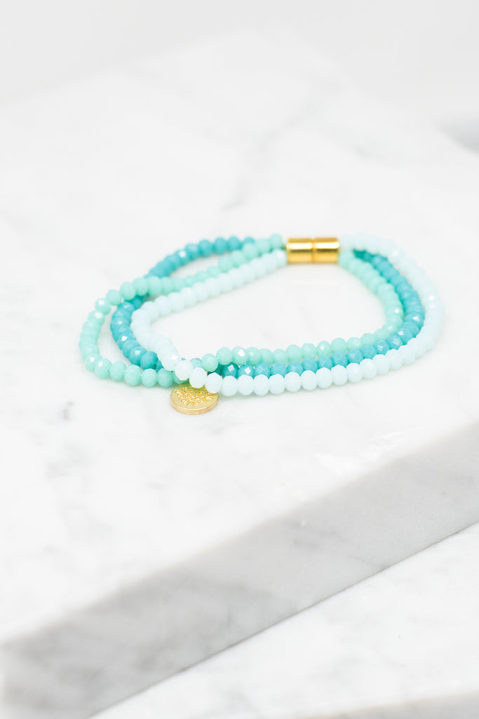 Go With You Anywhere Bracelet, Mint-Multi