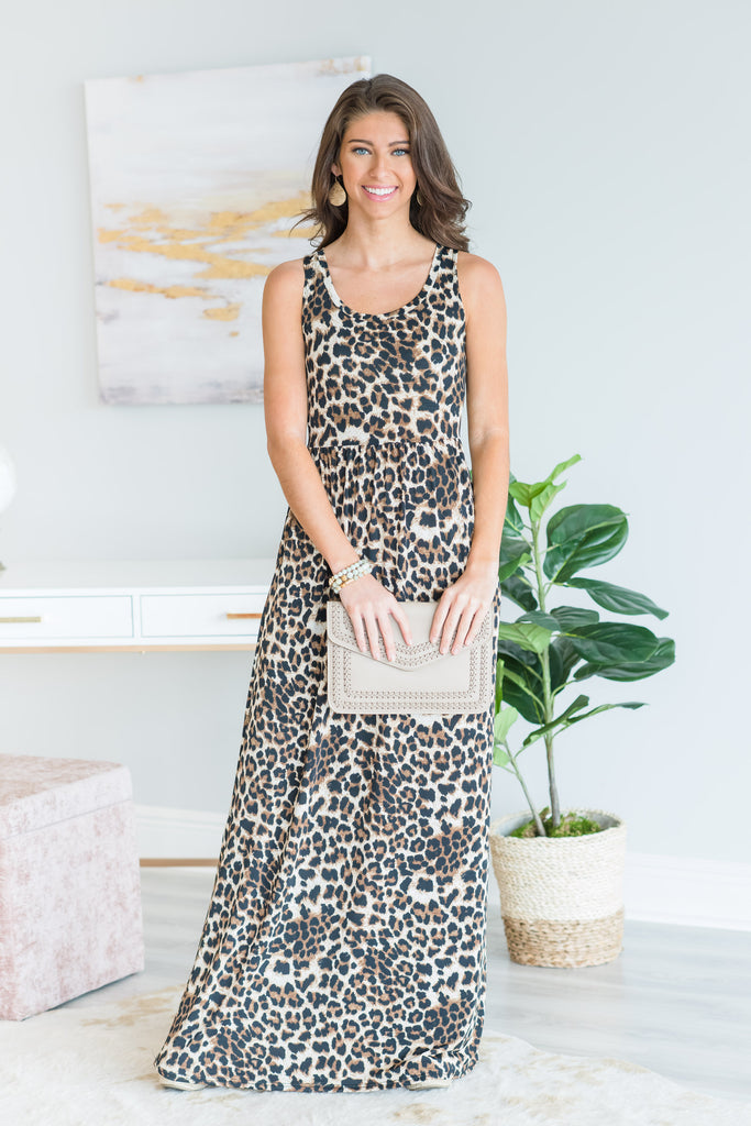 Fierce Days Ahead Maxi Dress, Brown