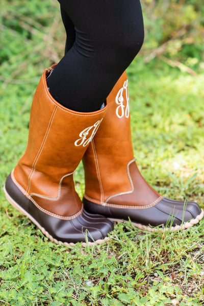 Splash Around Boots, Cognac