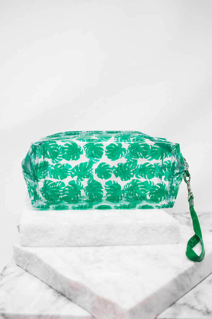Tropics Or Bust Cosmetic Bag, Green