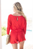 The Poolside Red Romper