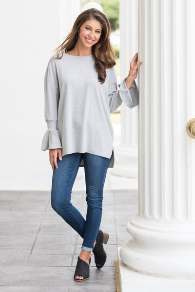 Reassured Beauty Sweater, Heather Gray