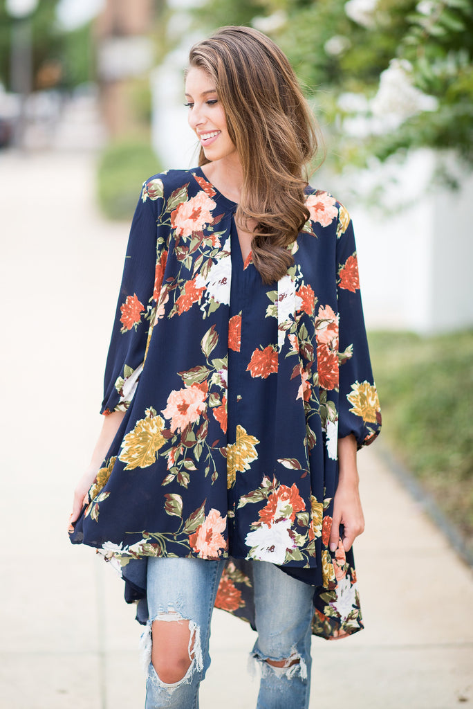 Do It All Tunic, Navy