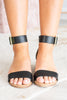 Palm Of Your Hand Black Heeled Sandals