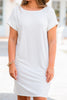 Get To Know Me Ivory White T-shirt Dress
