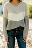 chevron colorblock sweater