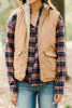 Off To the Mountains Camel Brown Reversible Vest