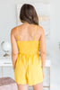 Make Yourself Happy Yellow Tie Front Romper