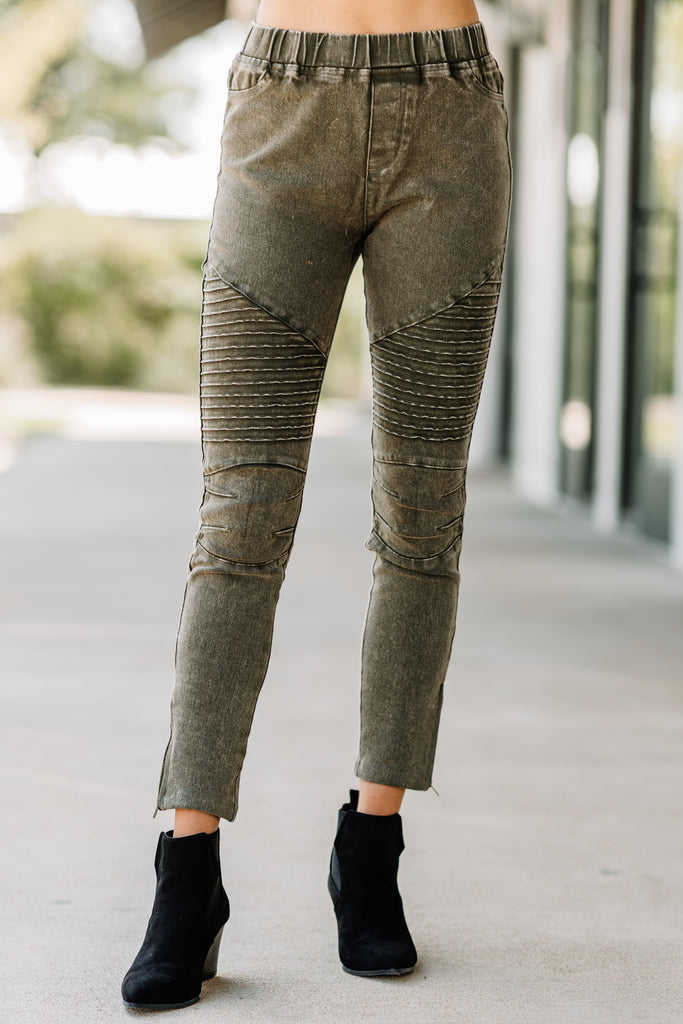 pants, jeggings, green jeggings, olive green jeggings, acid wash jeggings, distressed jeggings, distressed acid washed jeggings, distressed acid washed pants, bottoms,