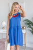 Always Be Here Dress, Royal Blue