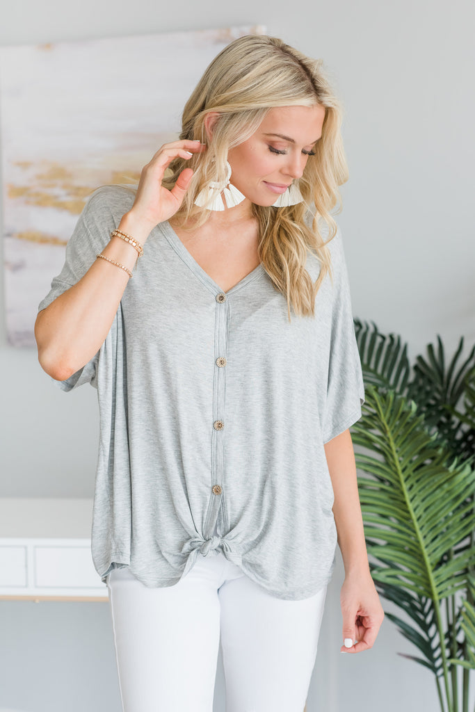 Always Be Your Best Top, Heather Gray