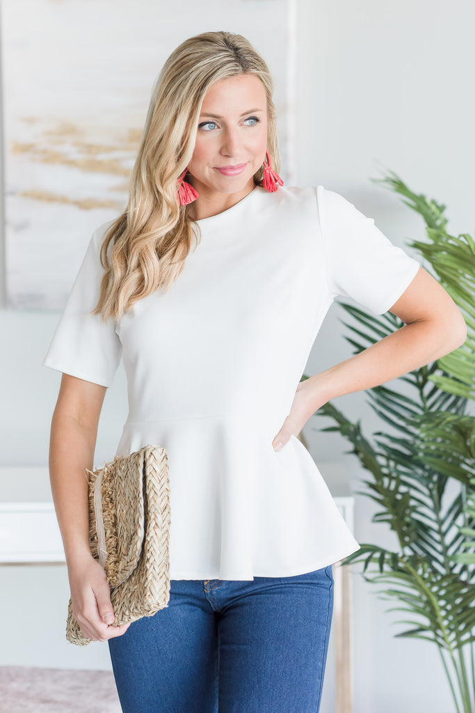 Always Keeping It Cute Top, Ivory