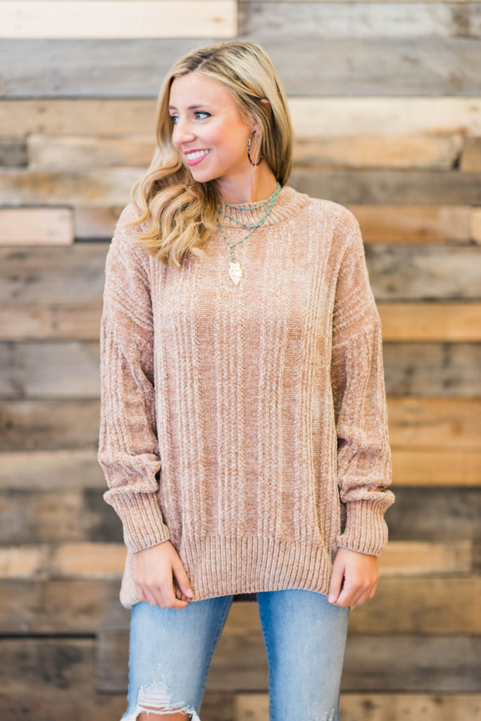 A Touch Of Cozy Sweater, Mocha