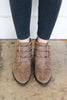 Buckle Down Diva Booties, Warm Taupe