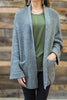 Can't Stop This Cardigan, Dark Gray