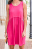 Carefree Cutie Tank Dress, Fuchsia