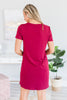 Casual Confidence Burgundy Red T-shirt Dress