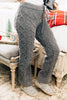 pajama pants, cable knit fabric, tied waist, comfy, gray, waist pants