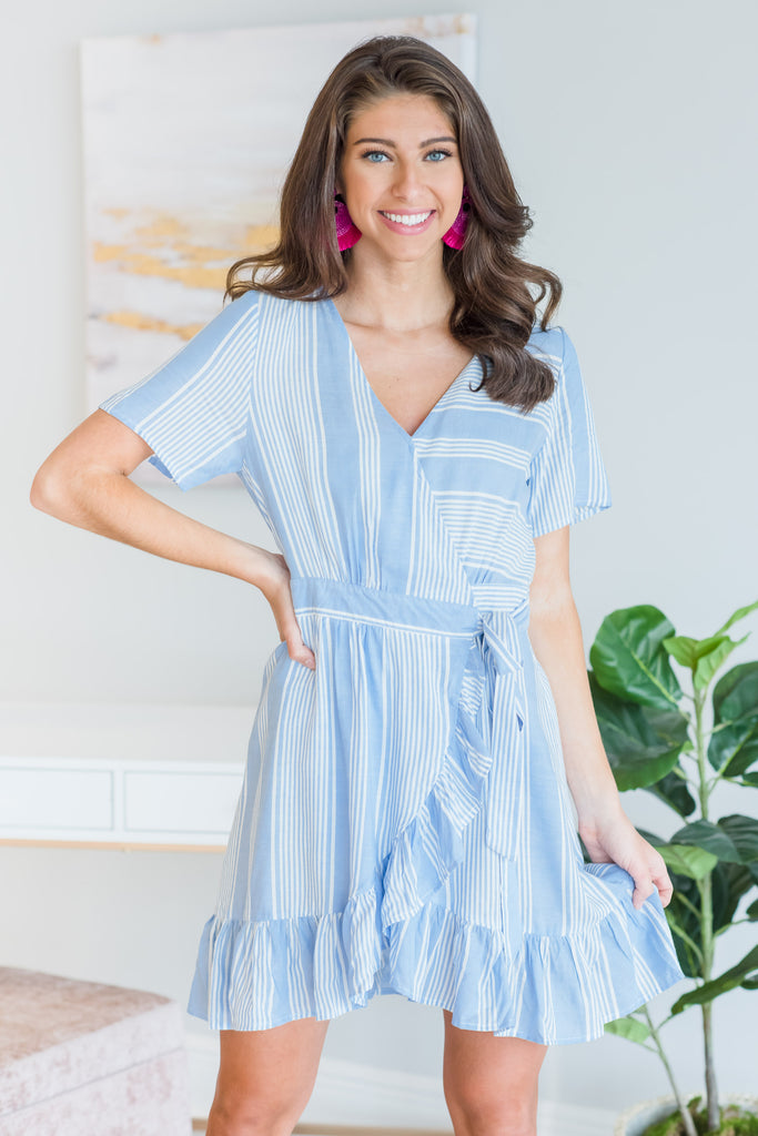 Creative Love Dress, Blue