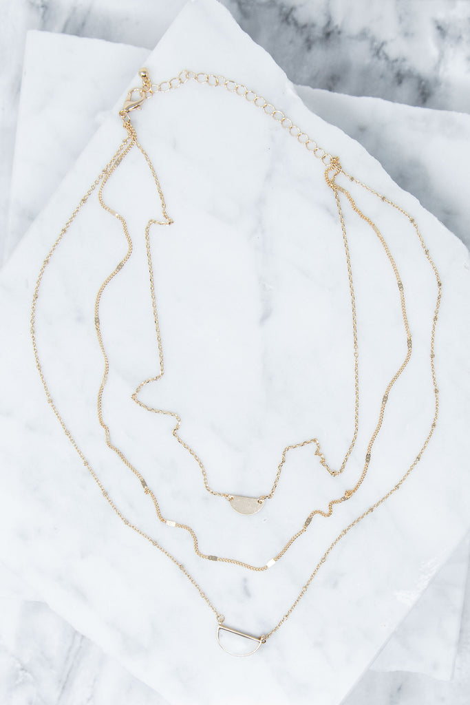 Definitely Dramatic Necklace, Marble-Gold