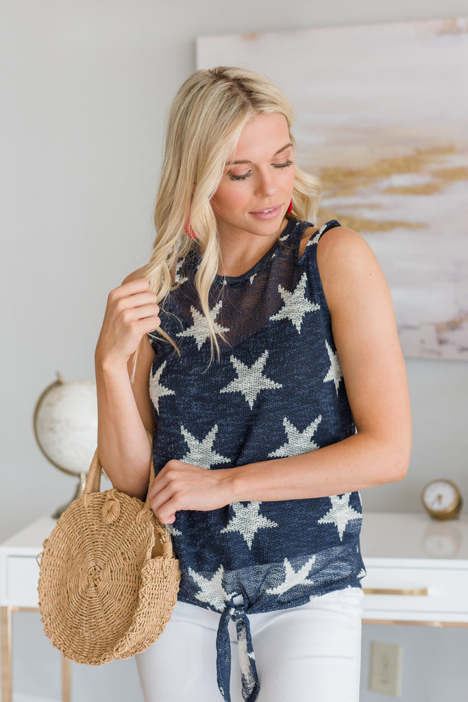 Fall Amongst The Stars Tank, Deep Navy